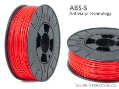 ABS-S Spezial Filament 1.75mm red 1kg, AntiWarp